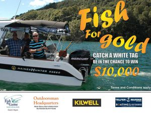 Eastern Fish & Game Fish for Gold 2019 promotion