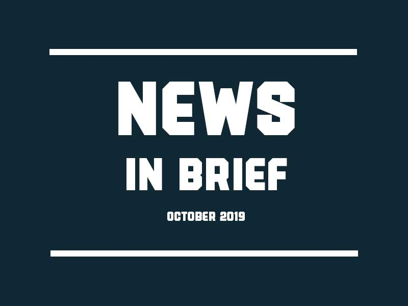 News in brief October 2019