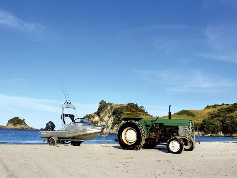 Boat tractor maintenance