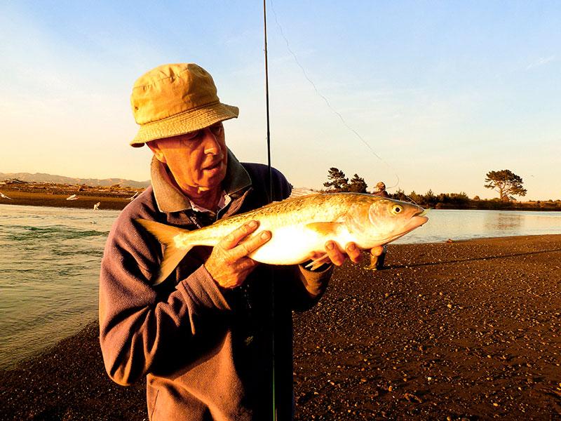 Saltwater fly rod sport with kahawai